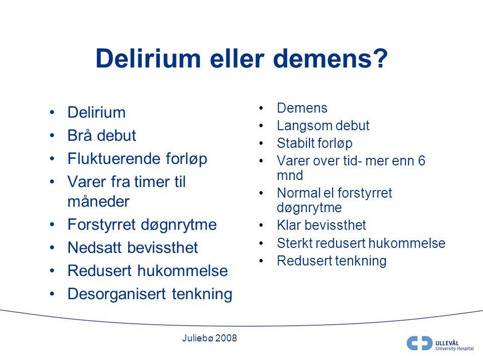 Juliebø 2008 Delirium eller demens.
