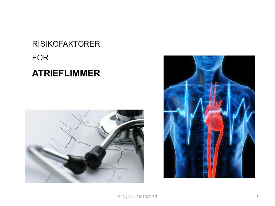 A.Nyrnes 16.10.201222 Hva er palpitasjoner. (3) Episoder med AF.