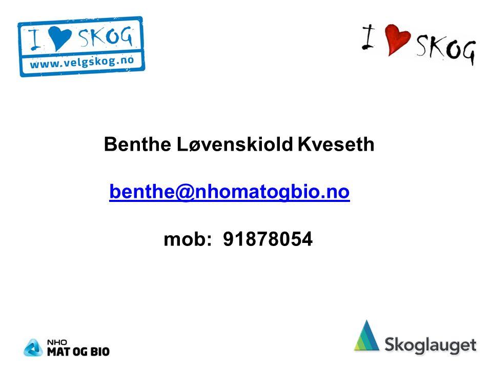 Benthe Løvenskiold Kveseth benthe@nhomatogbio.no mob: 91878054benthe@nhomatogbio.no
