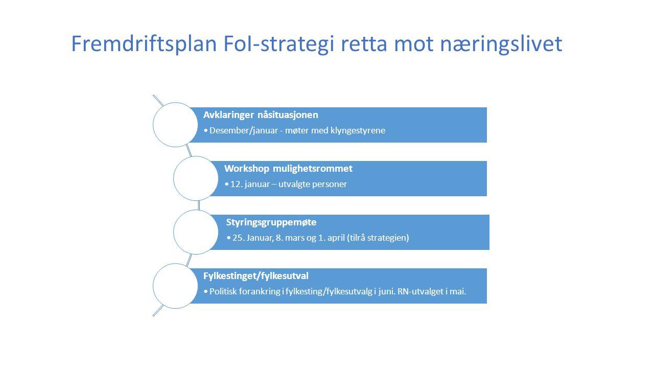 Plan for FoI-strategi - offentleg sektor Mars Oktober August Juni