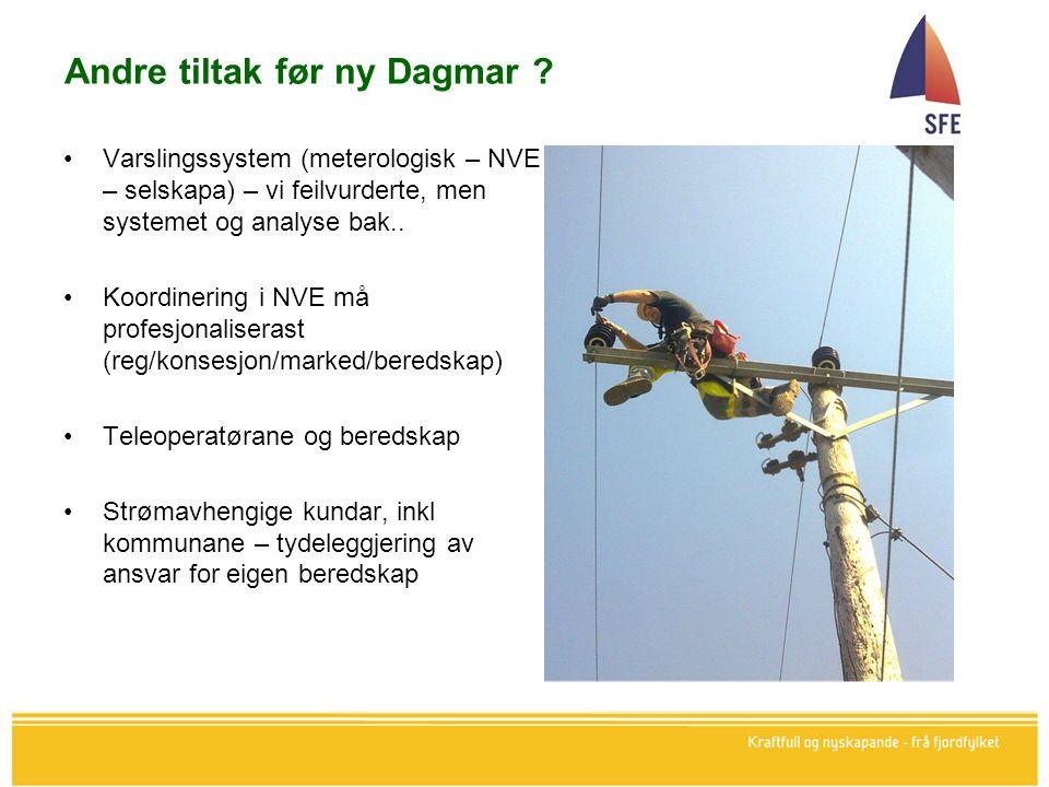 Andre tiltak før ny Dagmar .