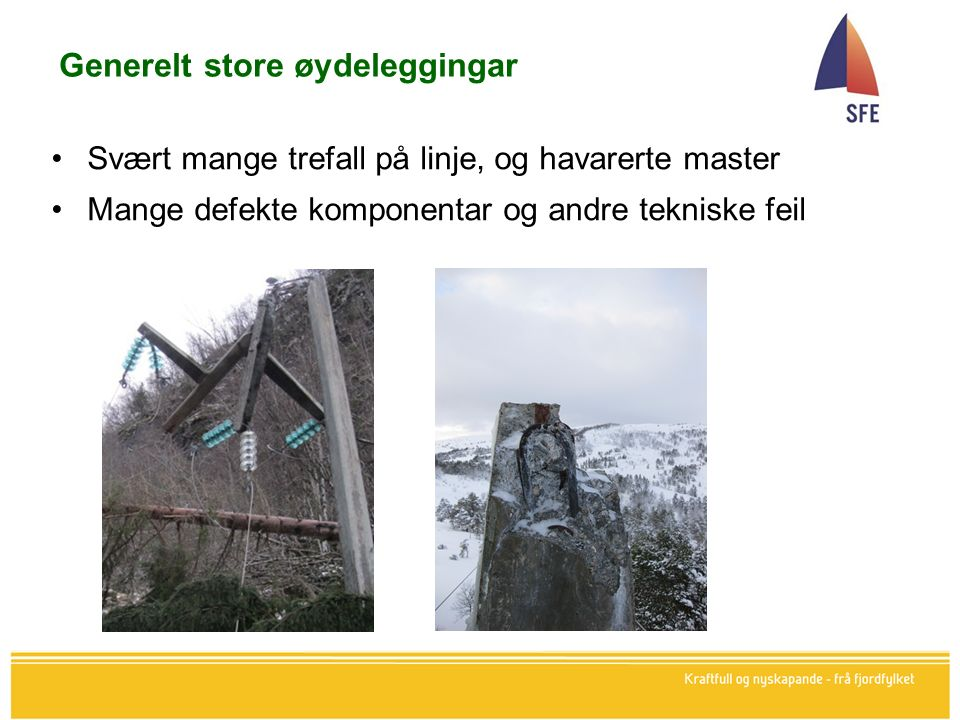 Foto: Gunnar Bjørlykke Mast på Utvikfjellet, vindskade (ikkje trevelt)