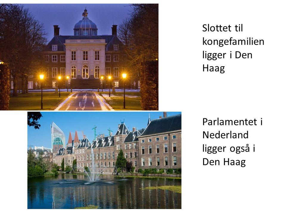 Slottet til kongefamilien ligger i Den Haag Parlamentet i Nederland ligger også i Den Haag