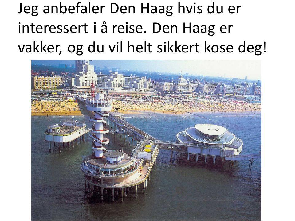 Jeg anbefaler Den Haag hvis du er interessert i å reise. Den Haag er vakker, og du vil helt sikkert kose deg!
