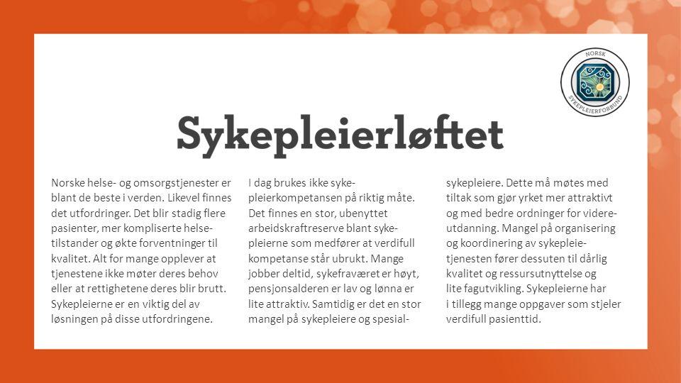 Norske helse- og omsorgstjenester er blant de beste i verden.