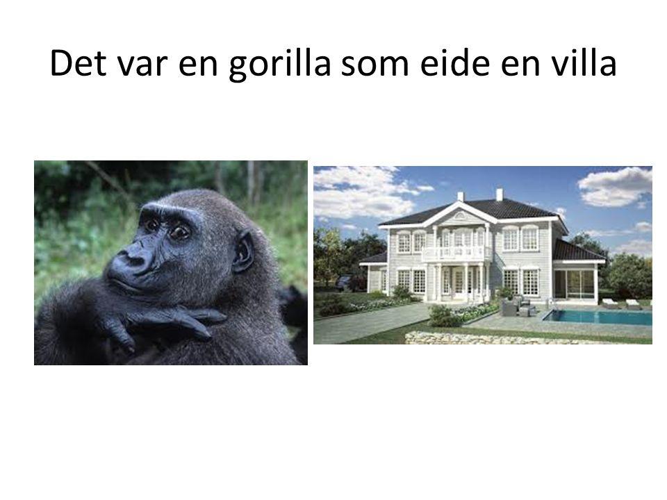 Det var en gorilla som eide en villa