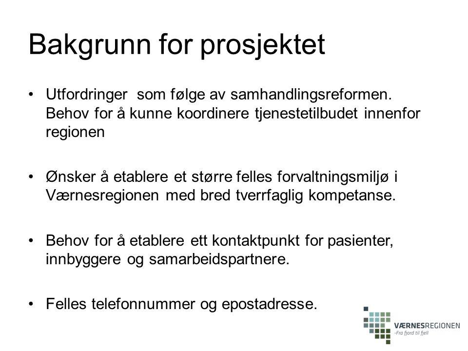 Bakgrunn for prosjektet Utfordringer som følge av samhandlingsreformen.