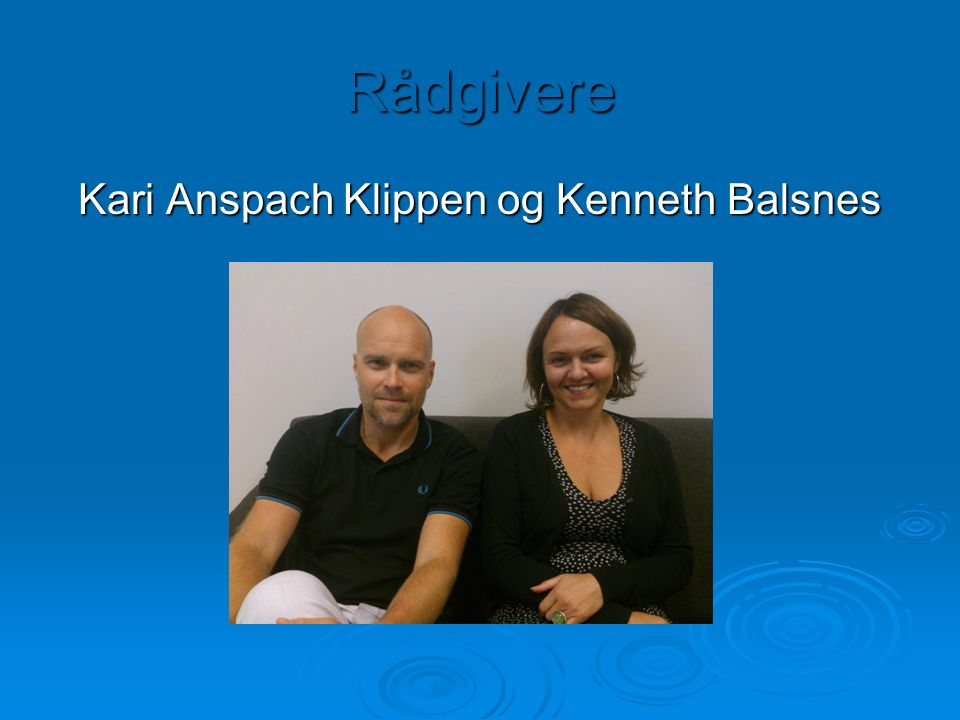 Rådgivere Kari Anspach Klippen og Kenneth Balsnes
