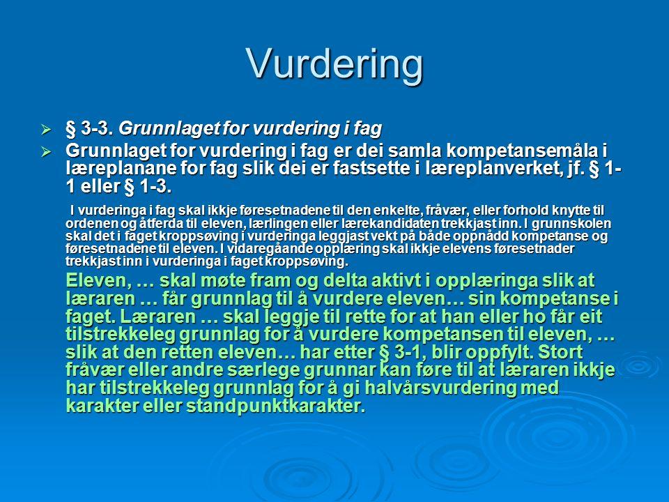 Vurdering  § 3-3.