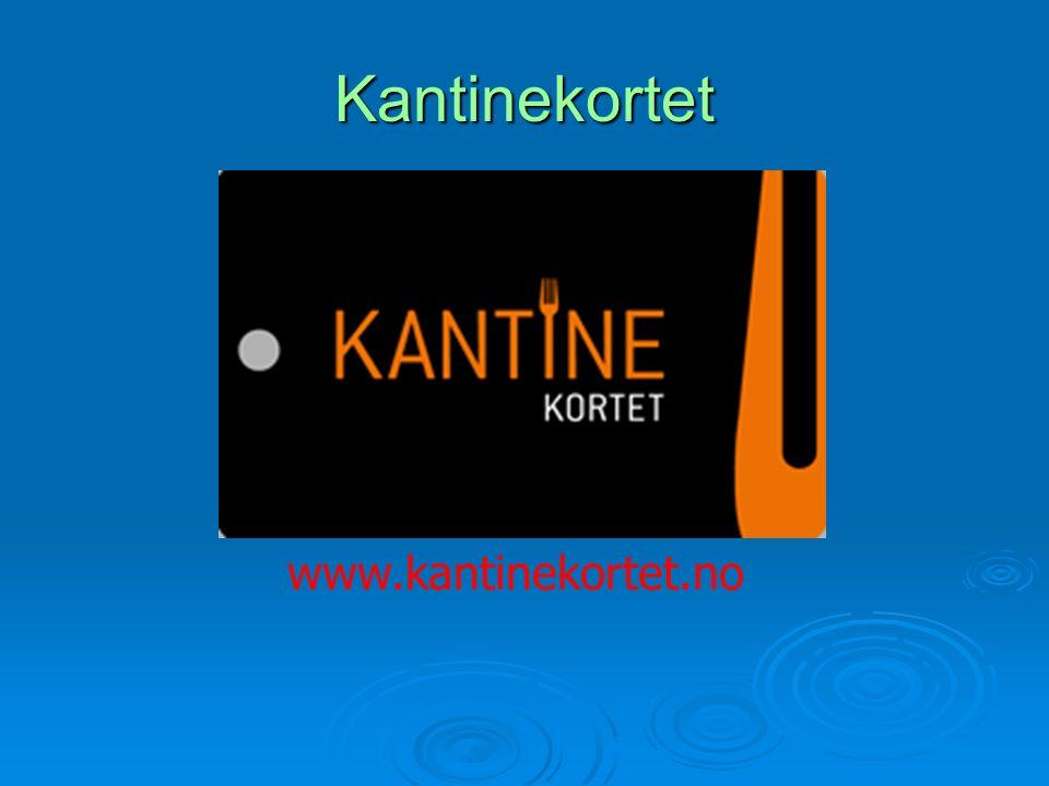 Kantinekortet www.kantinekortet.no