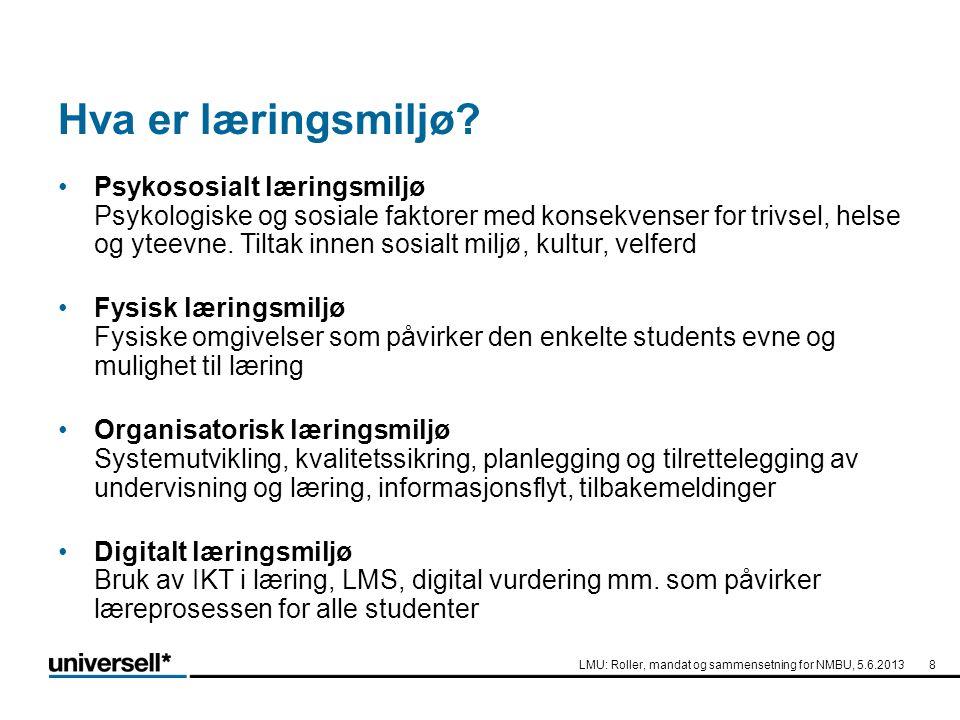 3.Del av organisasjonskartet De mange aktørene 19 LMU Institutt SU Tilrette- leggingstj.