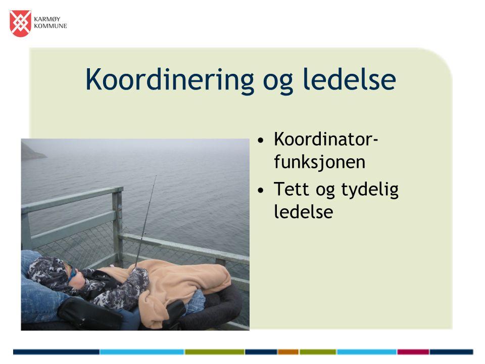 Koordinering og ledelse Koordinator- funksjonen Tett og tydelig ledelse