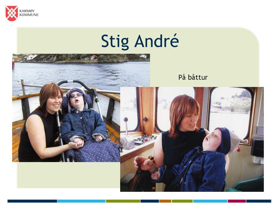 Stig André På båttur