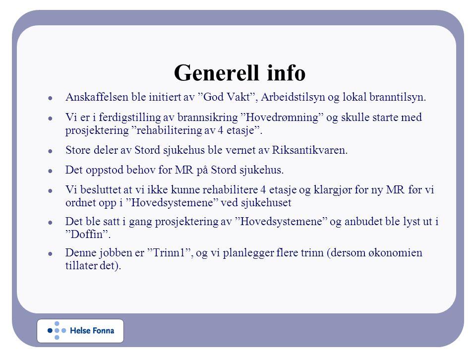 Generell info Anskaffelsen ble initiert av God Vakt , Arbeidstilsyn og lokal branntilsyn.