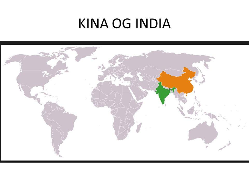 KINA OG INDIA