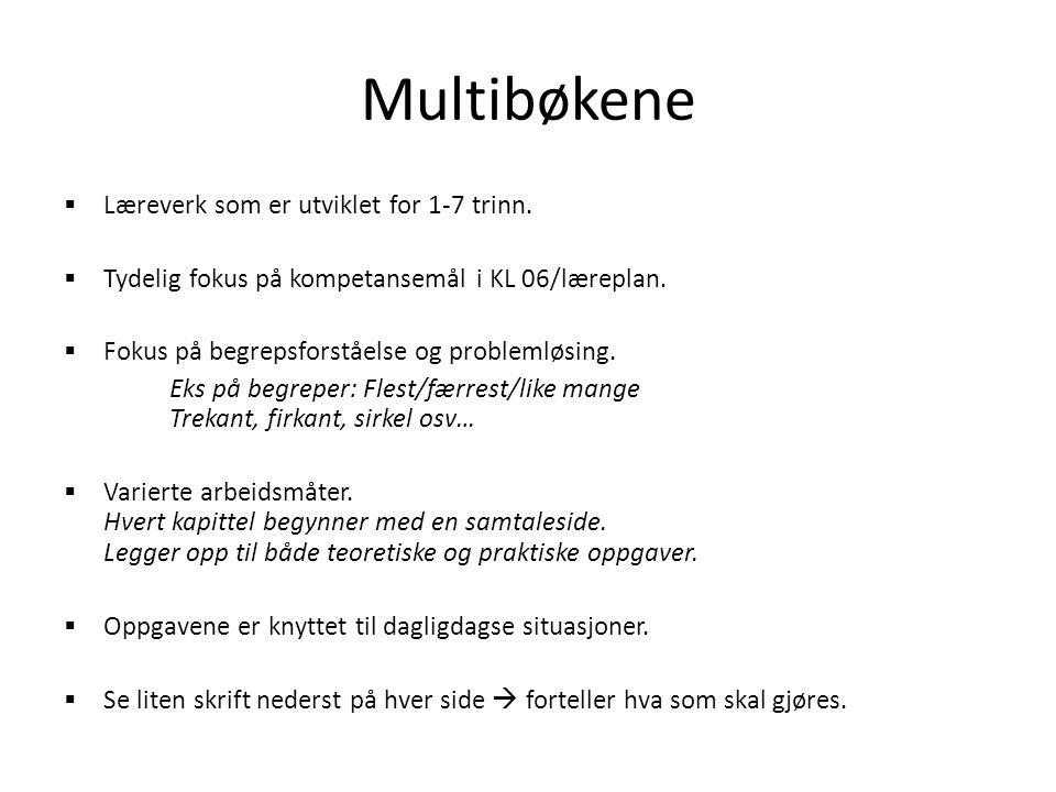 Tema  Sortering  Telling  Mønster  Tallene 0-20  Måling  Pluss og minus  Former og figurer