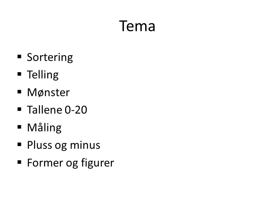 Kompetansemål etter 2.trinn Tall -Telle til 100.Dele opp og bygge mengder opp til 10.