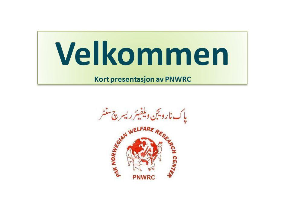Velkommen Kort presentasjon av PNWRC