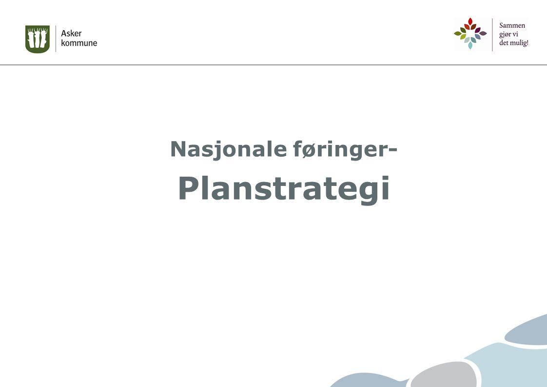 Nasjonale føringer- Planstrategi