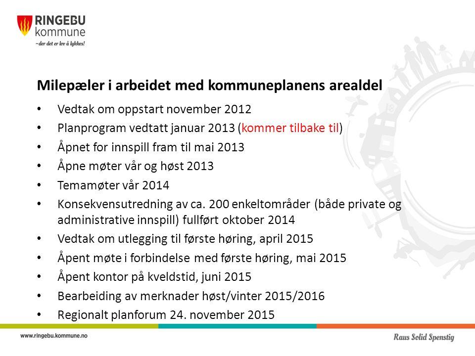 Selve planforslaget Består av følgende hoveddokumenter: Planbeskrivelse (m/vedlegg) Planbestemmelser og retningslinjer Plankart Konsekvensutredning med ROS (risiko og sårbarhetsanalyse)