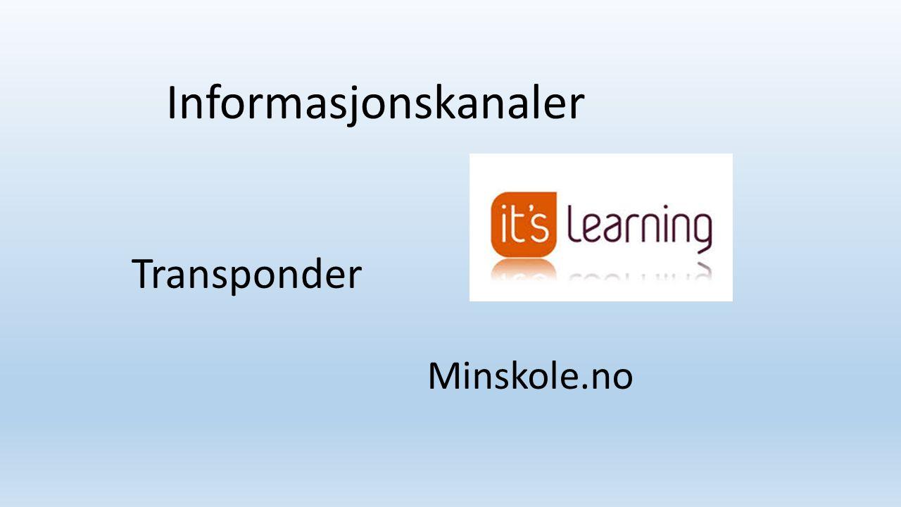 Transponder Minskole.no Informasjonskanaler