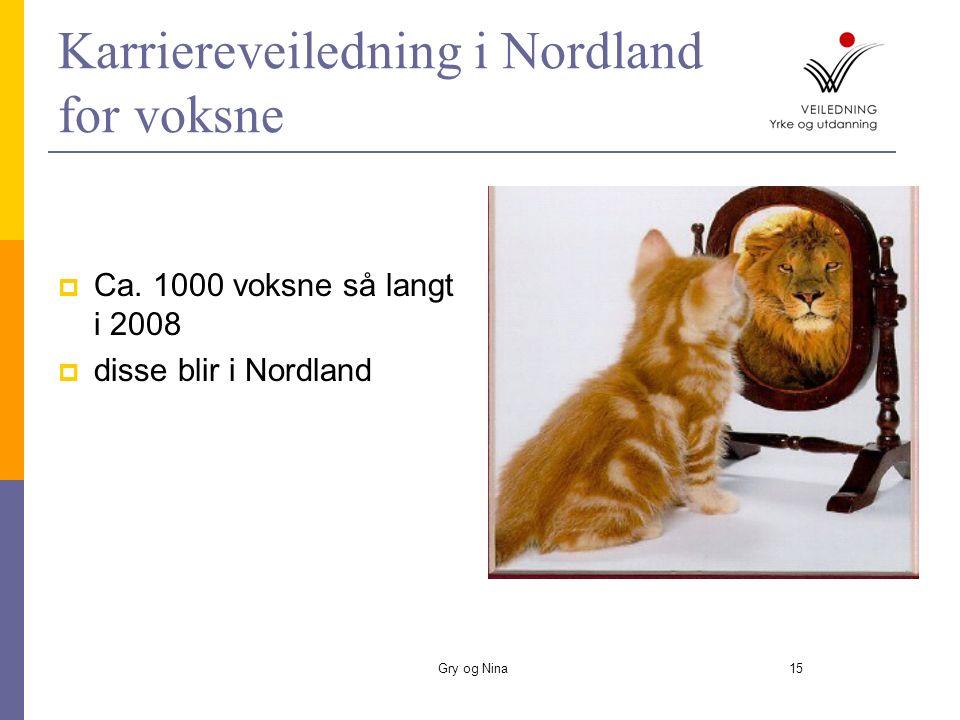 Gry og Nina15 Karriereveiledning i Nordland for voksne  Ca.