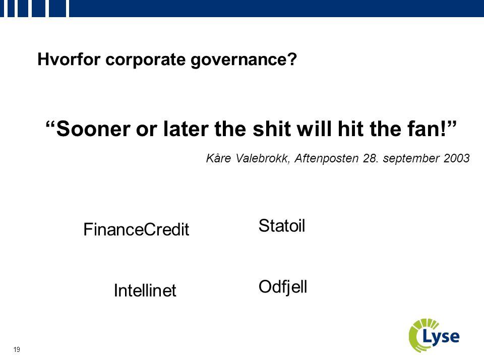19 Hvorfor corporate governance.