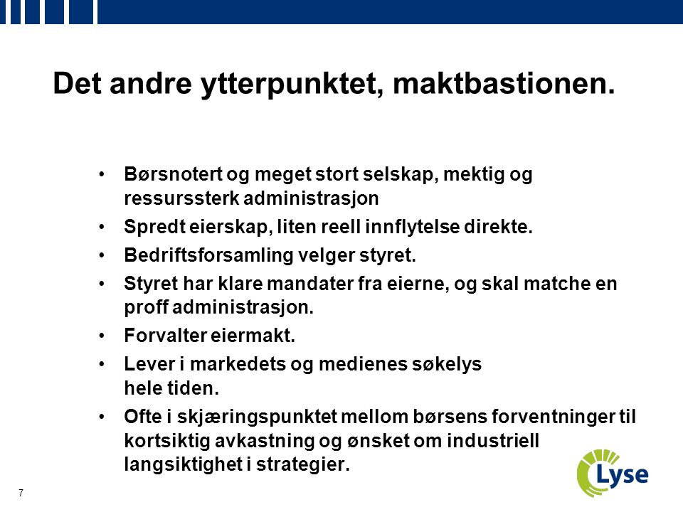 18 Corporate Governance, på alles agendaer nå.
