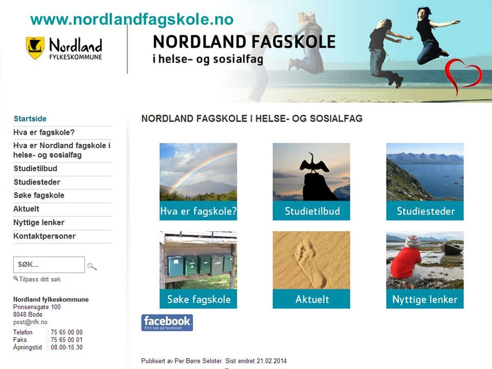 www.nordlandfagskole.no15 www.nordlandfagskole.no