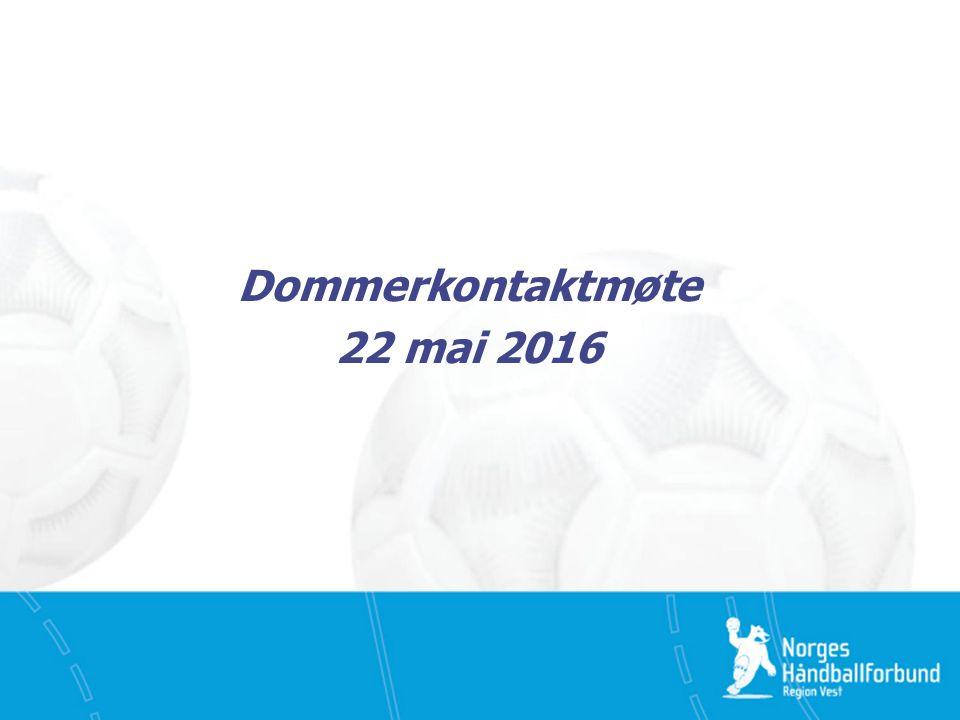 Dommerkontaktmøte 22 mai 2016