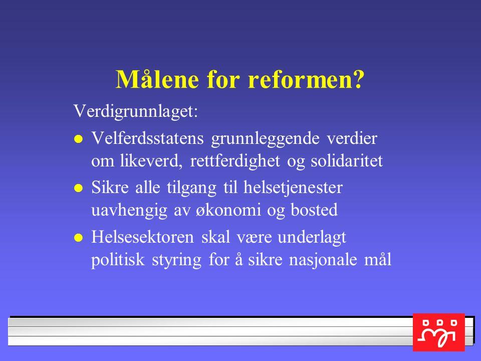 Målene for reformen.