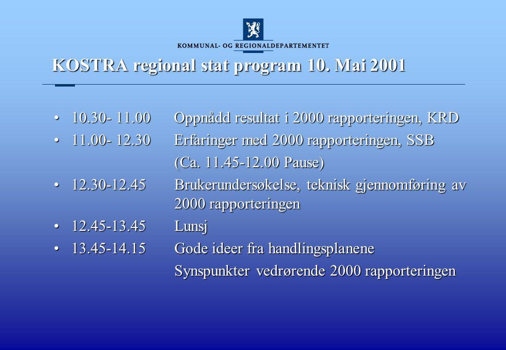 KOSTRA regional stat, program 10.