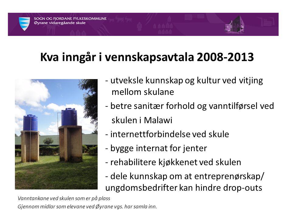 Frå opp starten 2008 har vi:  Øyrane vgs.
