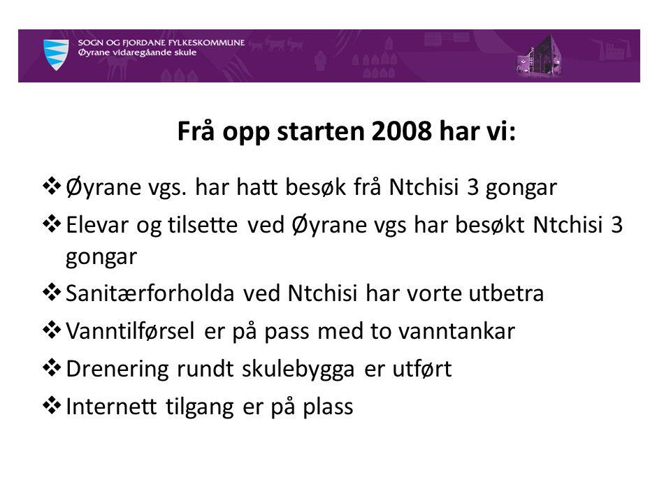 Organisering av arbeidet på Øyrane vgs. Elevane ved Øyrane vgs.
