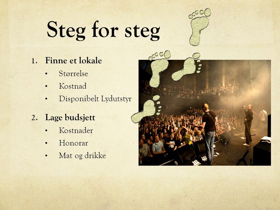 Steg for steg 1. Finne et lokale Størrelse Kostnad Disponibelt Lydutstyr 2.