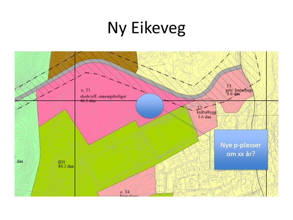 Ny Eikeveg Nye p-plasser om xx år