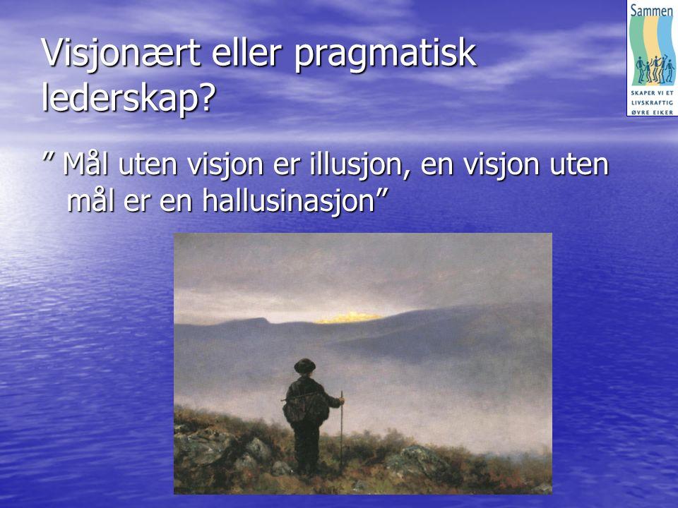Visjonært eller pragmatisk lederskap.