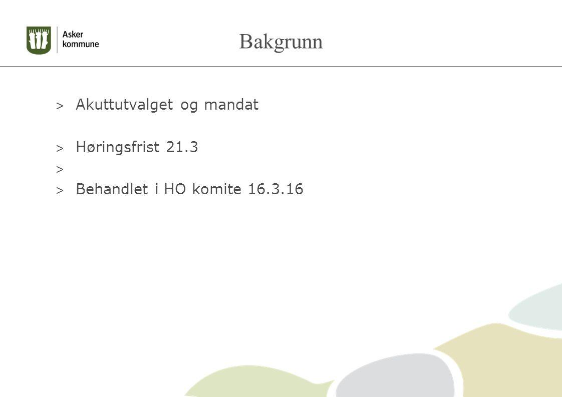 Bakgrunn > Akuttutvalget og mandat > Høringsfrist 21.3 > > Behandlet i HO komite 16.3.16