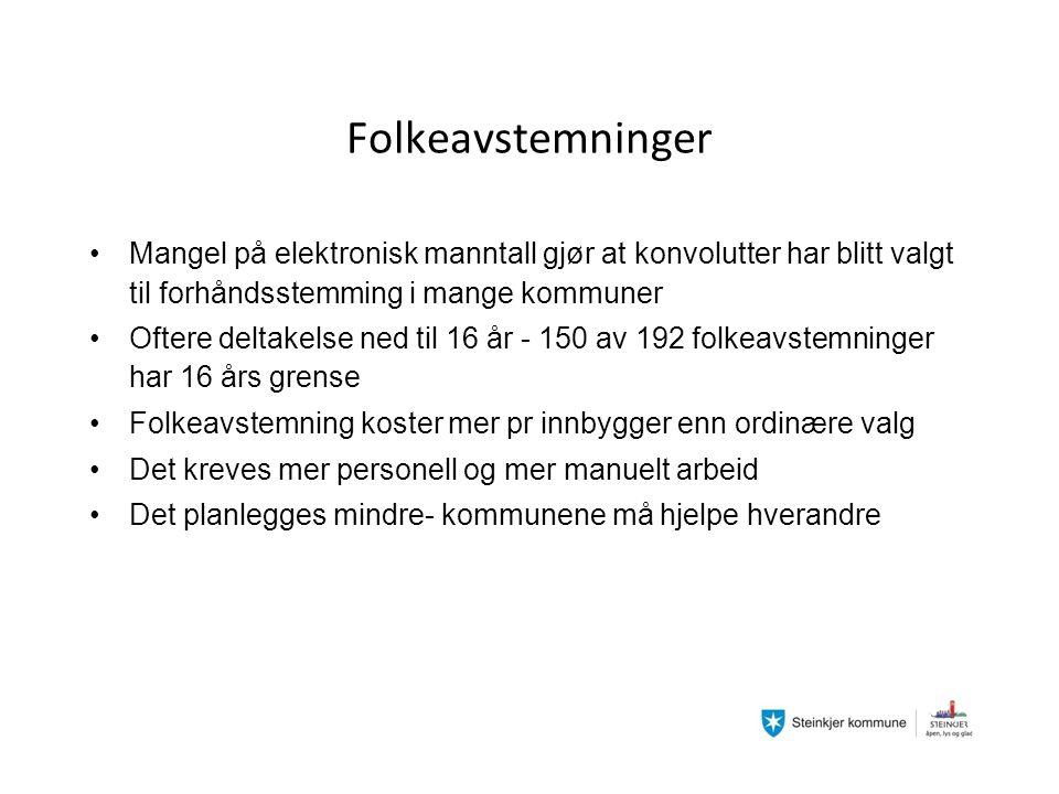 Hva sa lokalavisen etter av folkeavstemningen var avsluttet? Foto: Øyvind Bones, Steinkjer-Avisa