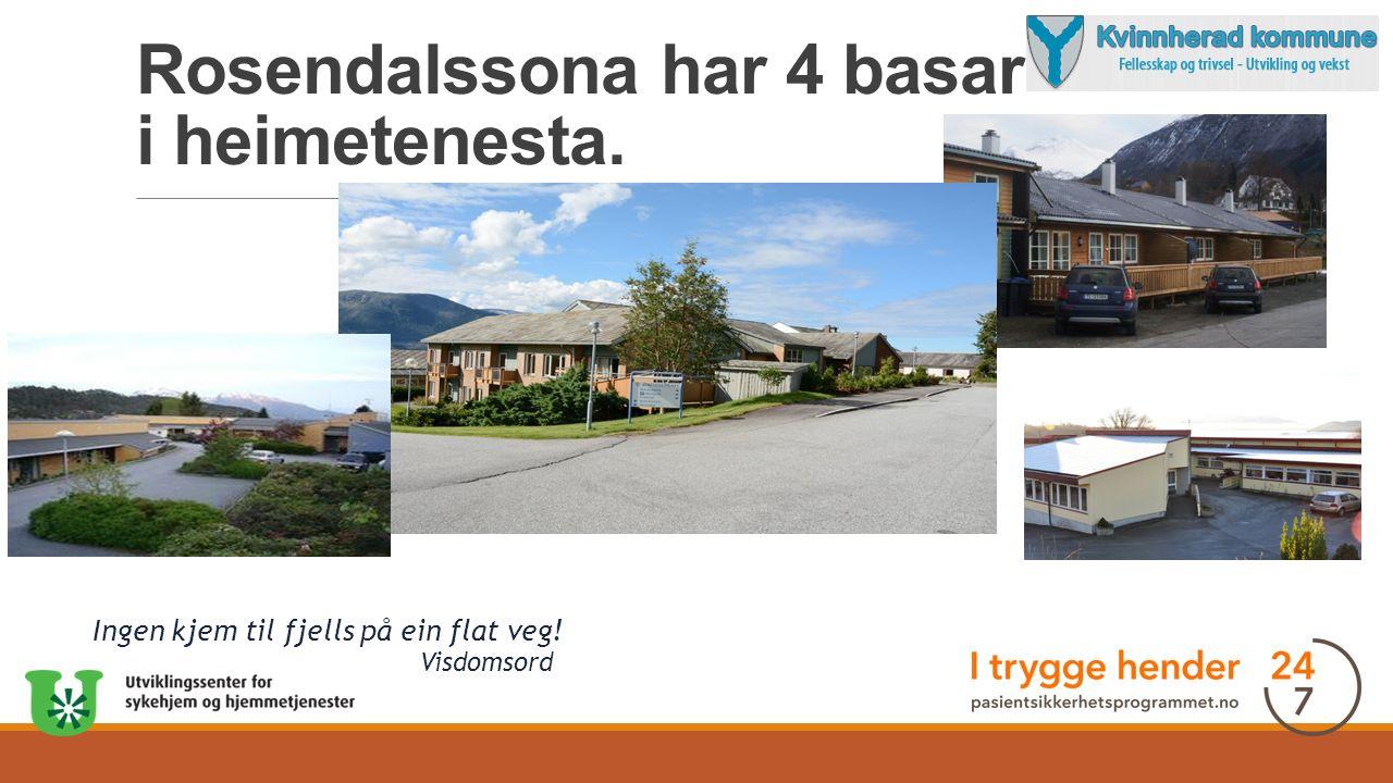Rosendalssona har 4 basar i heimetenesta. Ingen kjem til fjells på ein flat veg! Visdomsord