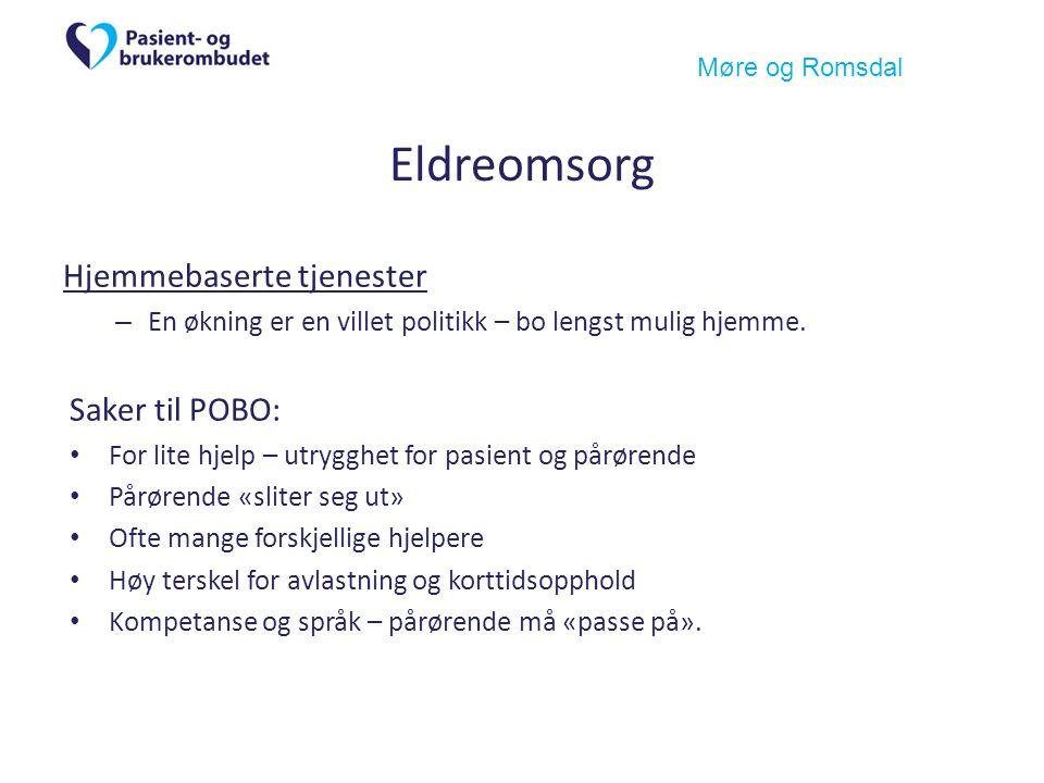 Møre og Romsdal Eldreomsorg Hjemmebaserte tjenester – En økning er en villet politikk – bo lengst mulig hjemme.