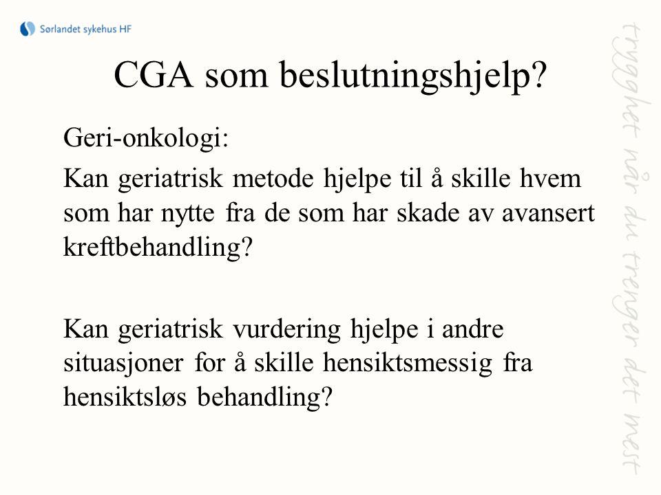 CGA som beslutningshjelp.
