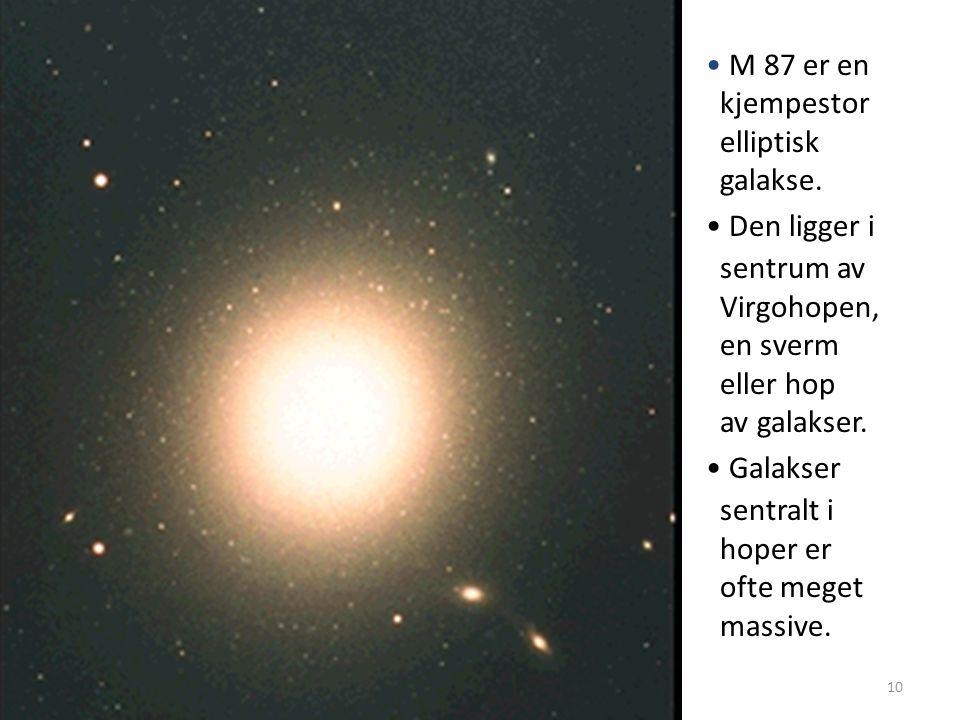 AST1010 - Galakser10 M 87 er en kjempestor elliptisk galakse.
