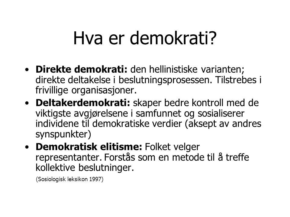 Hva er demokrati.
