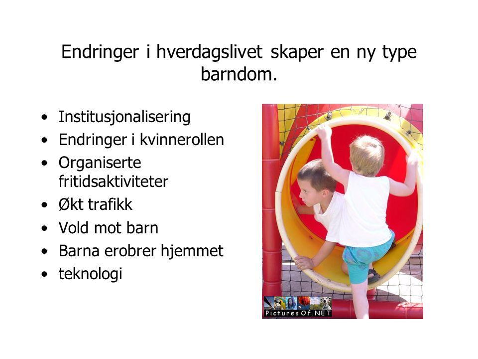 Innsnevringer og utvidelse av barns handlingsrom.