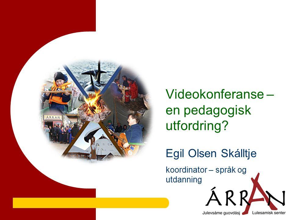 Videokonferanse – en pedagogisk utfordring Egil Olsen Skálltje koordinator – språk og utdanning