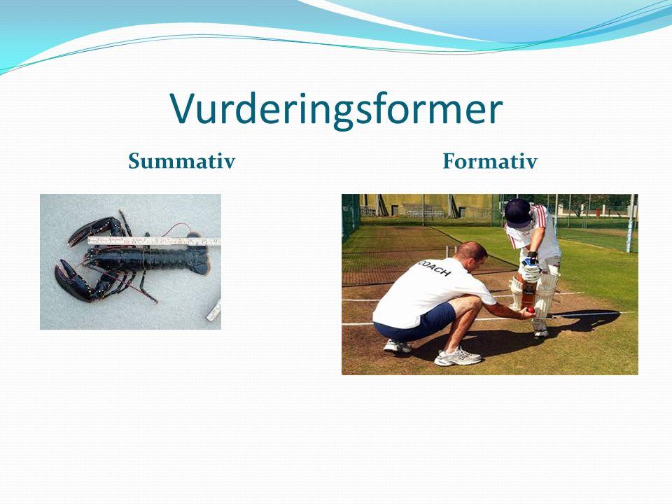 Vurderingsformer Summativ Formativ