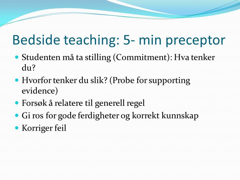 Studenten må ta stilling (Commitment): Hva tenker du.
