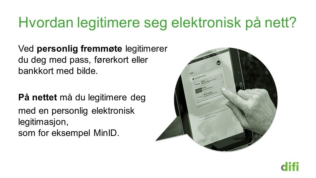 Hvordan legitimere seg elektronisk på nett.