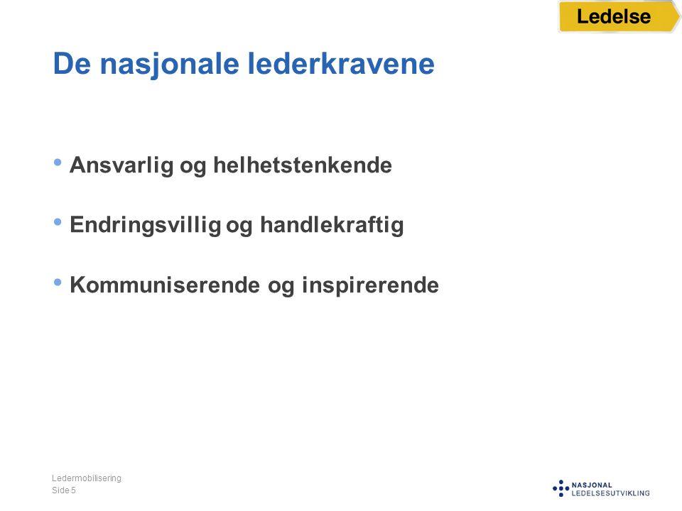 Visjon og lokale lederkrav Ledermobilisering Side 6